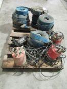 Pallet of Trash Pump Hose & Sprayers, Located in Winterset, IA