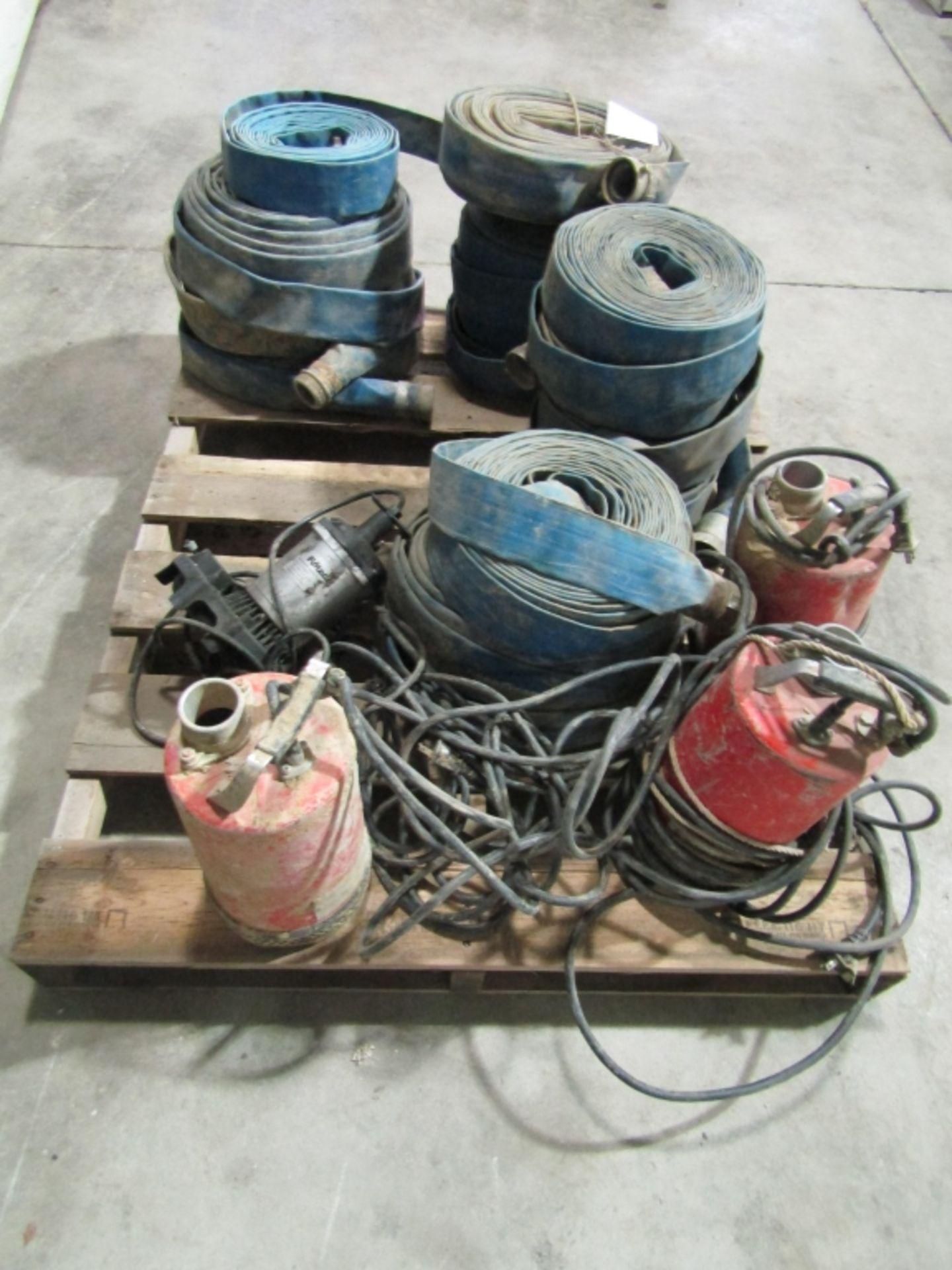 Lot 260 - Pallet of Trash Pump Hose & Sprayers, Located in Winterset, IA