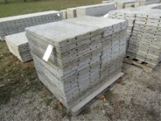"""(30) 36"""" x 2' Precise Concrete Forms, Textured Brick 8"""" Hole Pattern, Located in Winterset, IA"""