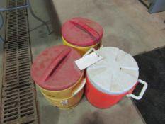 (3) Igloo Coolers, Located in Winterset, IA