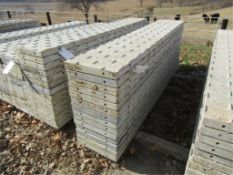 """(14) 18"""" x 8' Precise Concrete Forms, Textured Brick 8"""" Hole Pattern, Located in Winterset, IA"""