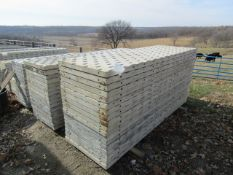 """(18) 32"""" x 8' Precise Concrete Forms, Textured Brick 8"""" Hole Pattern, Located in Winterset, IA"""