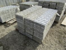 """(34) 12"""" x 4' Precise Concrete Forms, Textured Brick 8"""" Hole Pattern, Located in Winterset, IA"""