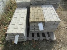 """(6) 32"""" x 1' & (14) 24"""" x 1'Precise Concrete Forms, Textured Brick 8"""" Hole Pattern, Located in"""