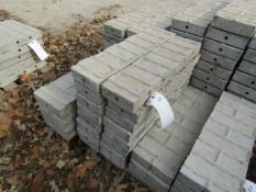"""(16) 6"""" x 2' Precise Concrete Forms, Textured Brick 8"""" Hole Pattern, Located in Winterset, IA"""