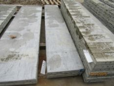 """(3) 18"""" x 8' Durand Concrete Forms, Smooth 8"""" Hole Pattern, Located in Mt. Pleasant, IA"""