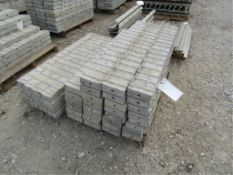 """(30) 6"""" x 4' Precise Concrete Forms, Textured Brick 8"""" Hole Pattern, Located in Winterset, IA"""