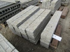 """(37) 8"""" x 4' Jumps Precise Concrete Forms, Textured Brick 8"""" Hole Pattern, Located in Winterset, IA"""