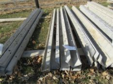 """(5) 4"""" x 4"""" x 8' ISC Precise Concrete Forms, Textured Brick 8"""" Hole Pattern, Located in Winterset,"""