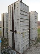"(16) 36"" x 9' Precise Concrete Forms, Textured Brick 8"" Hole Pattern, Located in Winterset, IA"