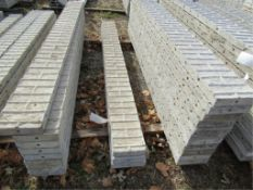 "(3) 9"" x 9' Precise Concrete Forms, Textured Brick 8"" Hole Pattern, Located in Winterset, IA"