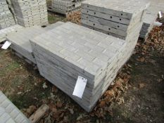 """(9) 32"""" x 2' Precise Concrete Forms, Textured Brick 8"""" Hole Pattern, Located in Winterset, IA"""