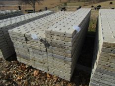 """(14) 16"""" x 8' Precise Concrete Forms, Textured Brick 8"""" Hole Pattern, Located in Winterset, IA"""