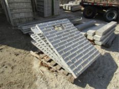 """(4) 36"""" x 4' Knockout Precise Concrete Forms, Textured Brick 8"""" Hole Pattern, Located in"""