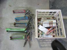 Crate of Caulking Guns & Caulk, Located in Winterset, IA