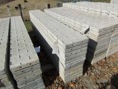 """(12) 14"""" x 8' Precise Concrete Forms, Textured Brick 8"""" Hole Pattern, Located in Winterset, IA"""