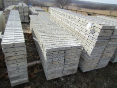 "(10) 12"" x 9' Precise Concrete Forms, Textured Brick 8"" Hole Pattern, Located in Winterset, IA"