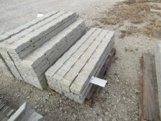 """(16) 4"""" x 4' Precise Concrete Forms, Textured Brick 8"""" Hole Pattern, Located in Winterset, IA"""