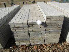 """(12) 16"""" x 8' Precise Concrete Forms, Textured Brick 8"""" Hole Pattern, Located in Winterset, IA"""