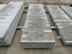 """(4) 28"""" x 8 Durand Concrete Forms, Textured Brick 8"""" Hole Pattern, Located in Mt. Pleasant, IA"""