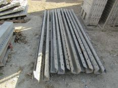 """(11) 4"""" x 4"""" x 9' ISC Precise Concrete Forms, Textured Brick 8"""" Hole Pattern, Located in"""