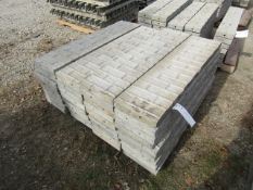 """(34) 12"""" x 4' Corners Precise Concrete Forms, Textured Brick 8"""" Hole Pattern, Located in"""