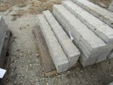 """(7) 5"""" x 4' Precise Concrete Forms, Textured Brick 8"""" Hole Pattern, Located in Winterset, IA"""
