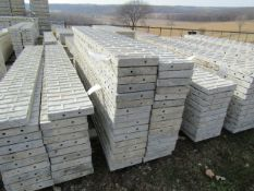 "(16) 12"" x 9' Corners Precise Concrete Forms, Textured Brick 8"" Hole Pattern, Located in"