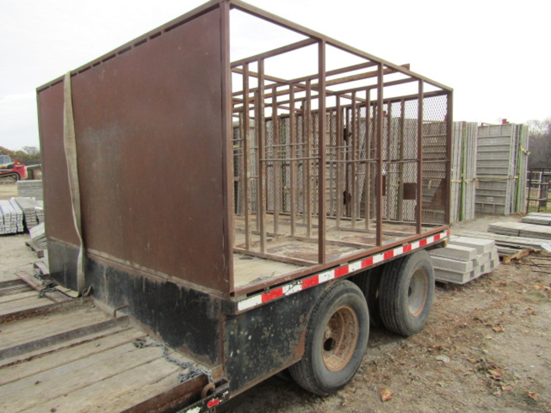"Lot 212 - 2004 B-B Gooseneck Trailer, Tandem Axle, 18' 8"" x 9' 6"" Well, 8' 7"" Top Deck, Located in"