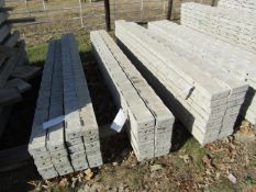 """(12) 5"""" x 8' Precise Concrete Forms, Textured Brick 8"""" Hole Pattern, Located in Winterset, IA"""