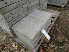 """(4) 14"""" x 2' Precise Concrete Forms, Textured Brick 8"""" Hole Pattern, Located in Winterset, IA"""