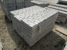 """(34) 14"""" x 4' Precise Concrete Forms, Textured Brick 8"""" Hole Pattern, Located in Winterset, IA"""