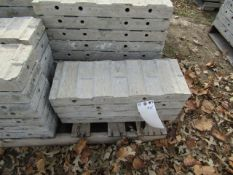 """(4) 9"""" x 2' Precise Concrete Forms, Textured Brick 8"""" Hole Pattern, Located in Winterset, IA"""