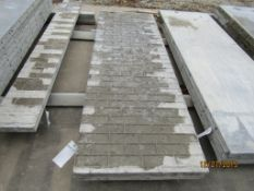 """(2) 32"""" x 8' Durand Concrete Forms, Textured Brick 8"""" Hole Pattern, Located in Mt. Pleasant, IA"""