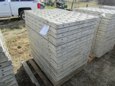 """(20) 36"""" x 4' Precise Concrete Forms, Textured Brick 8"""" Hole Pattern, Located in Winterset, IA"""