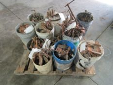 Pallet of Miscellaneous, C Clamps, Whalers, Etc. Located in Winterset, IA