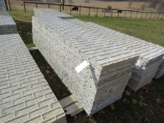 "(12) 24"" x 9' Precise Concrete Forms, Textured Brick 8"" Hole Pattern, Located in Winterset, IA"