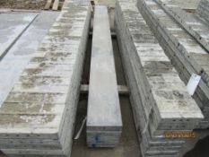 """(5) 9"""" x 8' Durand Concrete Forms, Smooth 8"""" Hole Pattern, Located in Mt. Pleasant, IA"""