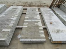 """(7) 26"""" x 8' Durand Concrete Forms, Textured Brick 8"""" Hole Pattern, Located in Mt. Pleasant, IA"""