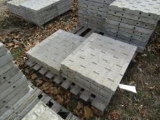 """(6) 28"""" x 2' Precise Concrete Forms, Textured Brick 8"""" Hole Pattern, Located in Winterset, IA"""