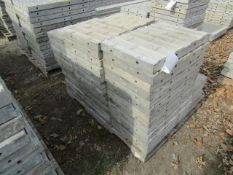 """(37) 16"""" x 2' Precise Concrete Forms, Textured Brick 8"""" Hole Pattern, Located in Winterset, IA"""