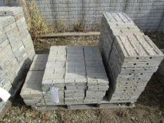 """(77) 1' CAP Precise Concrete Forms, (44) 8"""" x 1' & (33) 12"""" x 1' , Textured Brick 8"""" Hole Pattern,"""