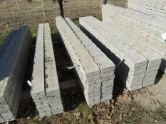 """(16) 6"""" x 8' Precise Concrete Forms, Textured Brick 8"""" Hole Pattern, Located in Winterset, IA"""