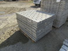 """(12) 36"""" x 4' Precise Concrete Forms, Textured Brick 8"""" Hole Pattern, Located in Winterset, IA"""