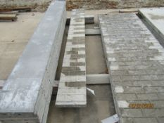 """(1) 12"""" x 8' Durand Concrete Forms, Textured Brick 8"""" Hole Pattern, Located in Mt. Pleasant, IA"""