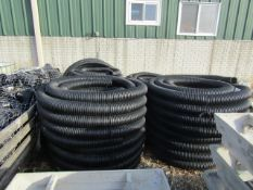 5 Rolls Perforated Drain Hose & 4 Totes T's, Located in Winterset, IA