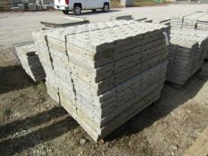 """(50) 16"""" x 4' Precise Concrete Forms, Textured Brick 8"""" Hole Pattern, Located in Winterset, IA"""