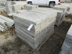 """(28) 36"""" x 2' Precise Concrete Forms, Textured Brick 8"""" Hole Pattern, Located in Winterset, IA"""