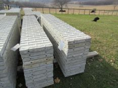 "(12) 16"" x 9' Precise Concrete Forms, Textured Brick 8"" Hole Pattern, Located in Winterset, IA"