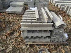 "(43) 4"" x 4"" x 2' Precise Concrete Forms, Inside Corner, Textured Brick 8"" Hole Pattern, Located"